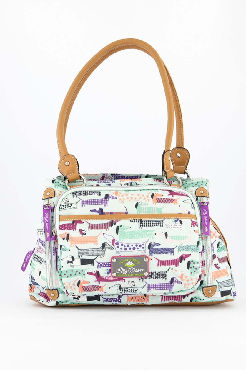 Women's Totally Paw Some Printed Shoulder Bag, Mint Combo