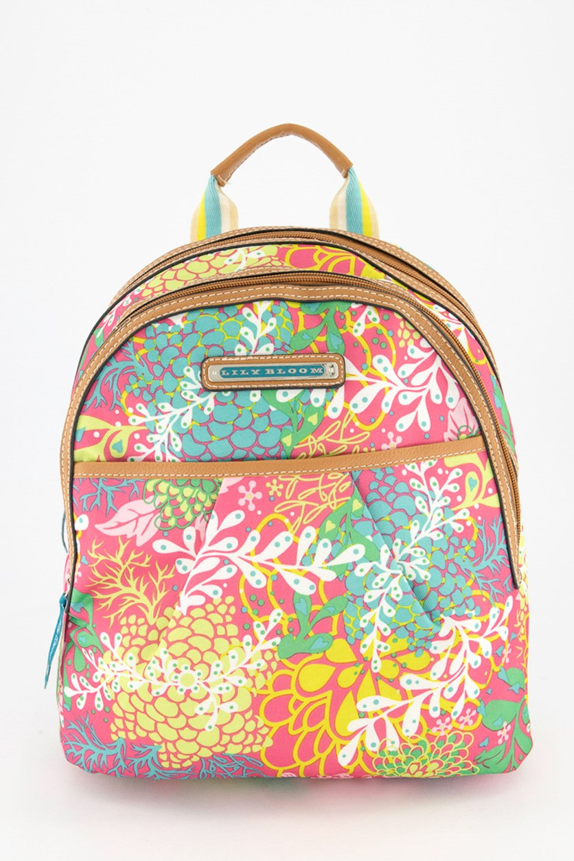 Women's Chantal Backpack, Floral Reef Pink