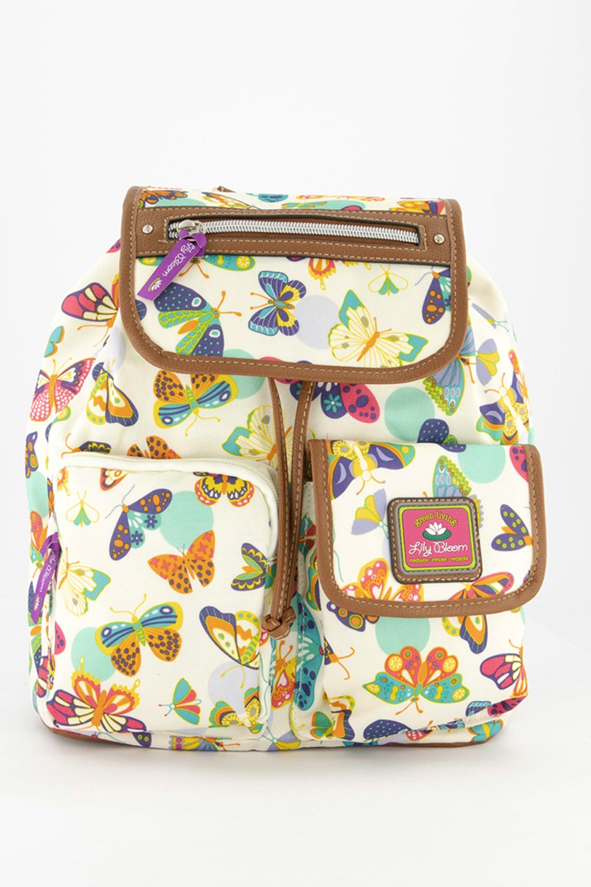 Butterfly Twister Backpack, Ivory Combo