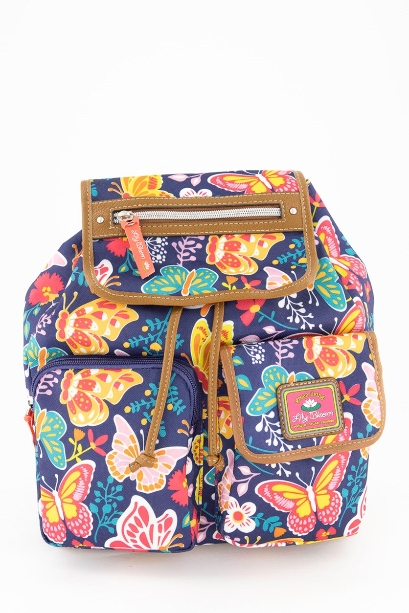 Women's Woodland Riley Backpack, Navy Combo