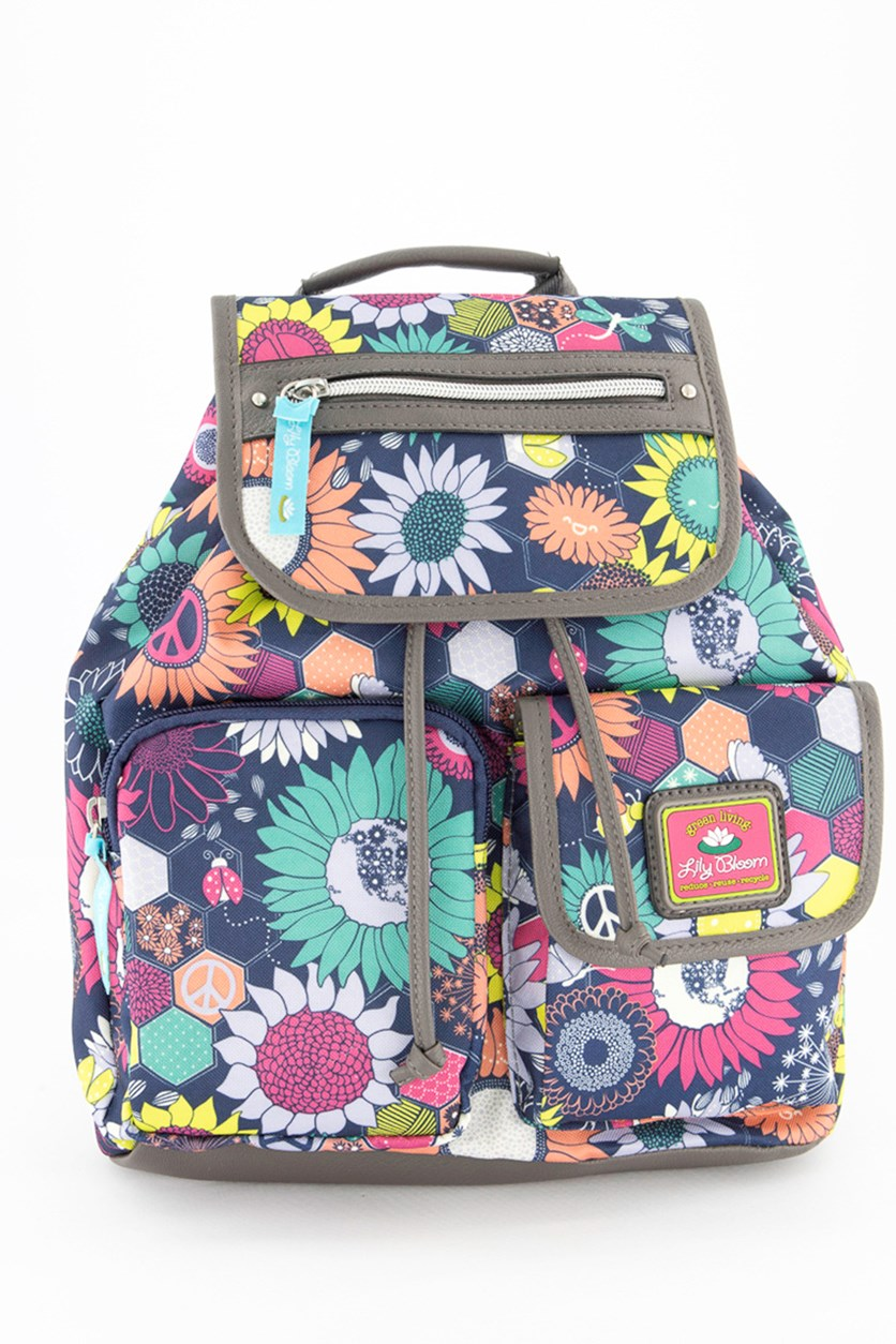 Women's Sunflower Riley Backpack, Navy Combo