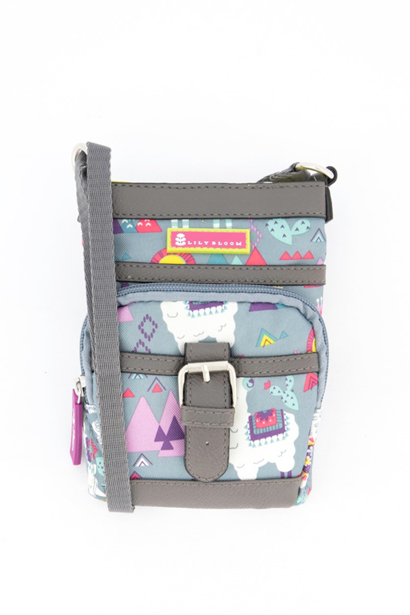 Llama Mama Mia Mini Cross Body Bag, Grey