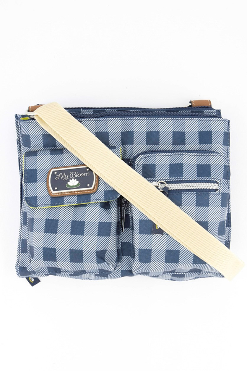 Regina Mid Crossbody Bag, Picnic Plaid Navy