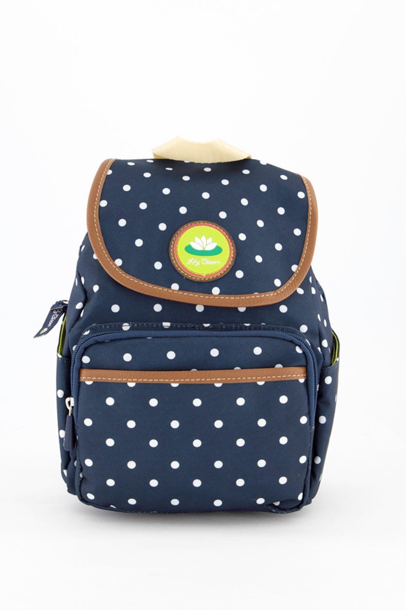 Polka Dot Marley Backpack, Navy