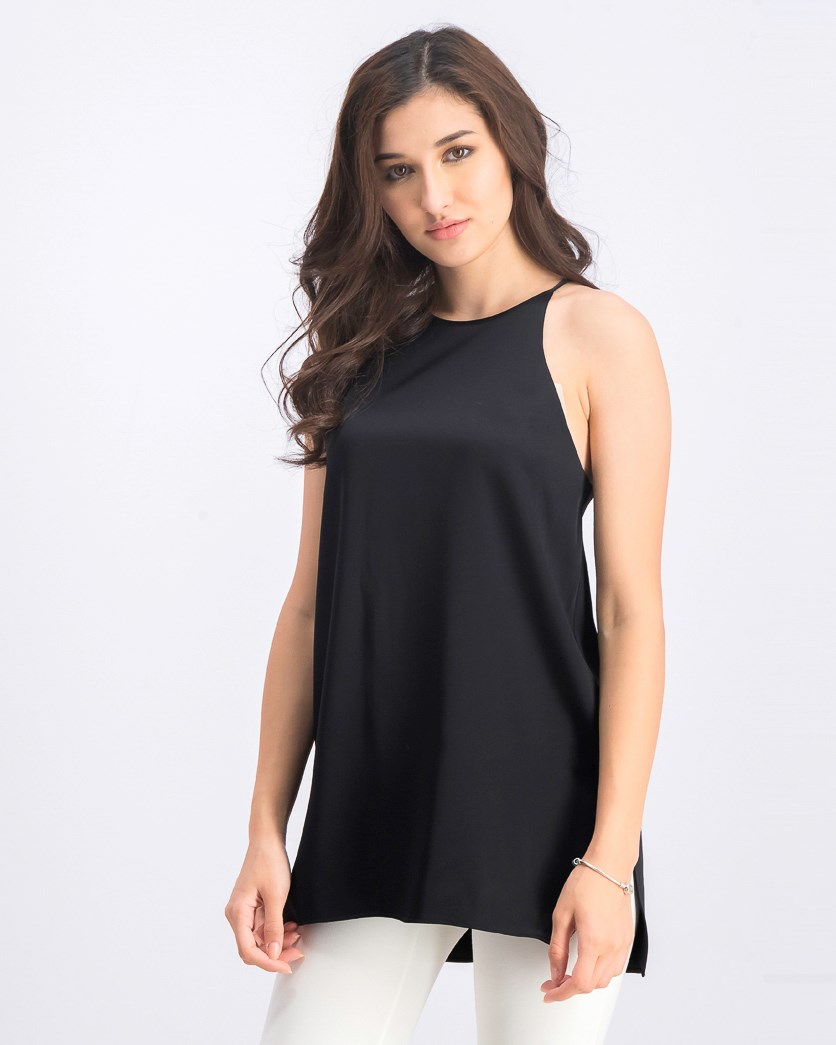 Women's Plain Racerback Cami Top, Black