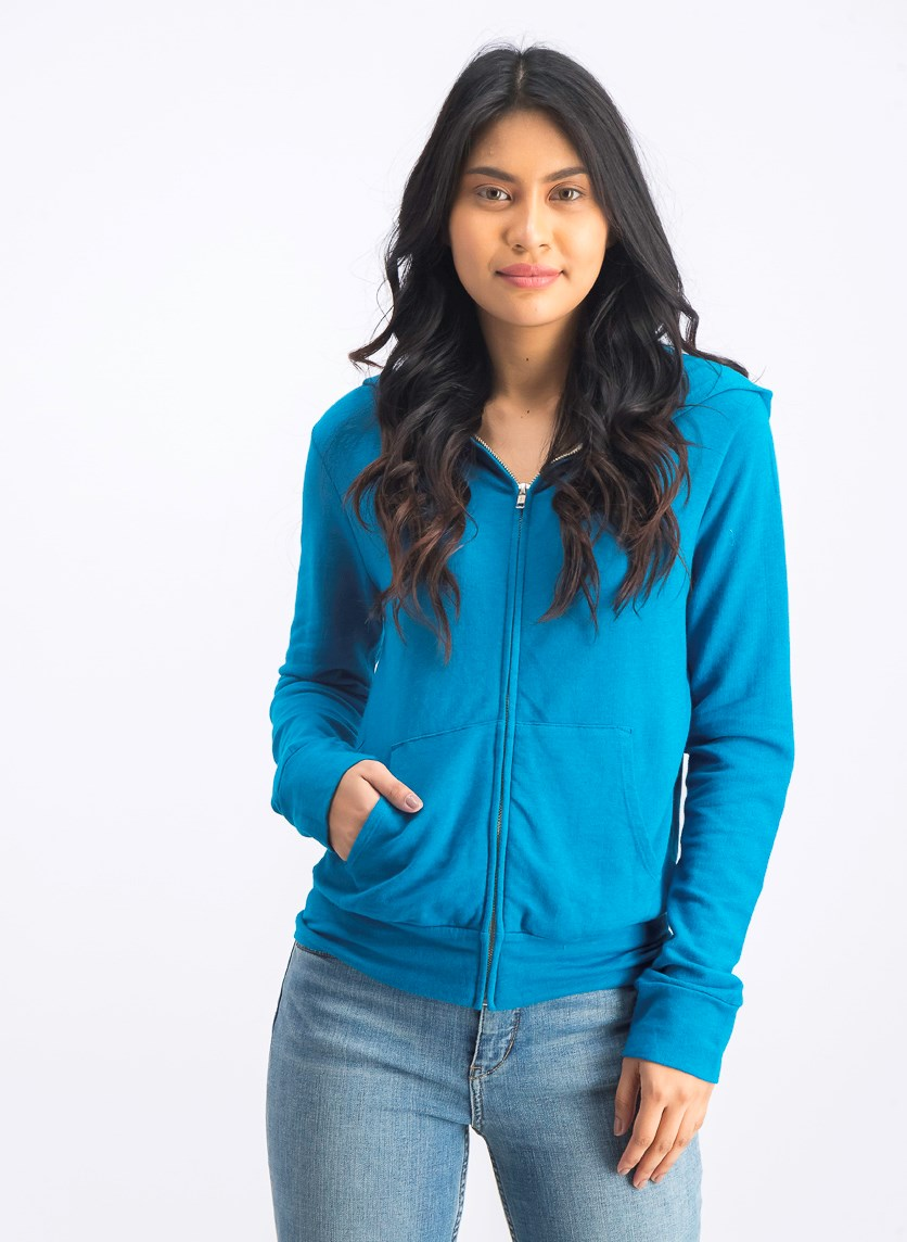 Women's Surf Lodge Zip-up Hoodie, Turquoise