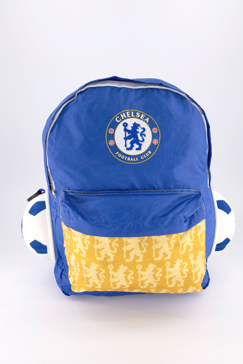 Soccer Ball Backpack, Blue/Gold
