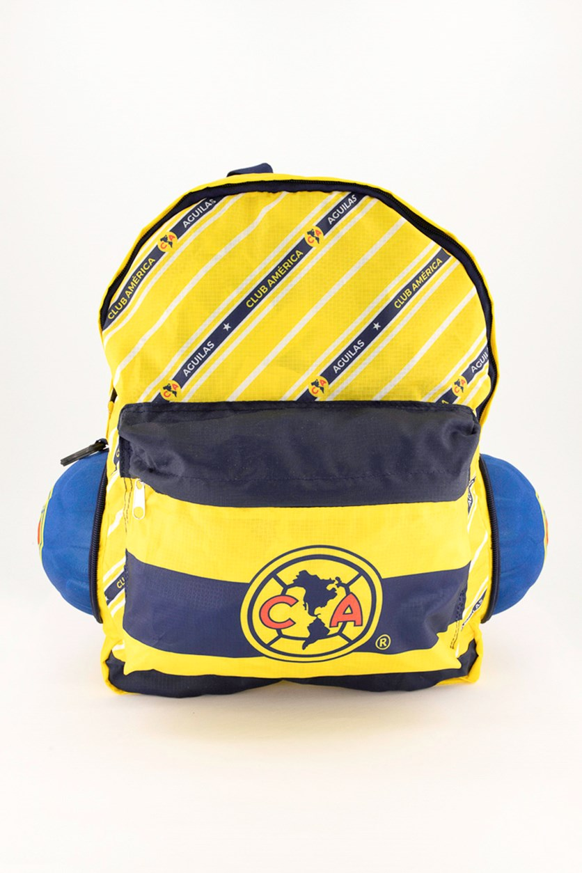 Kids Soccer Ball Backpack, Yellow/Blue