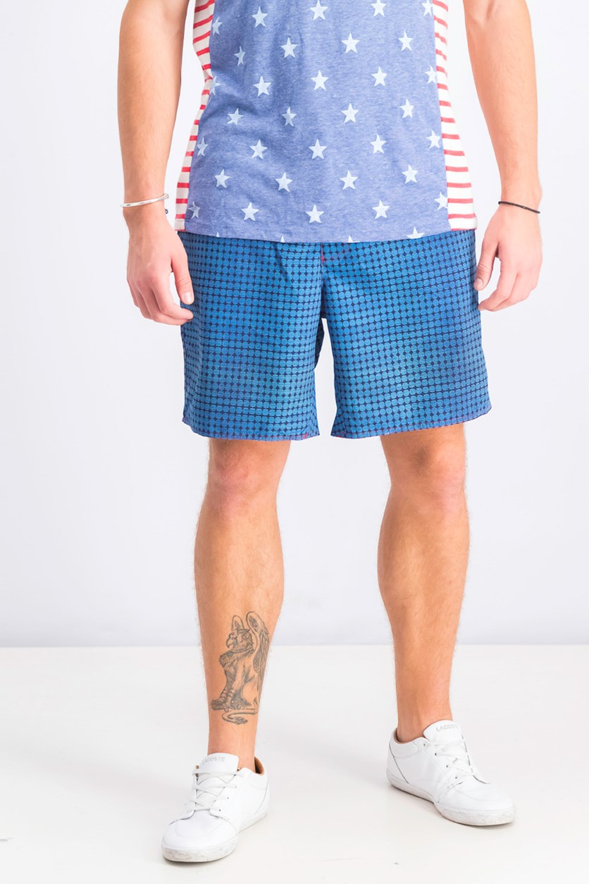 Men's Arroyo Circle Print Shorts, Blue Combo