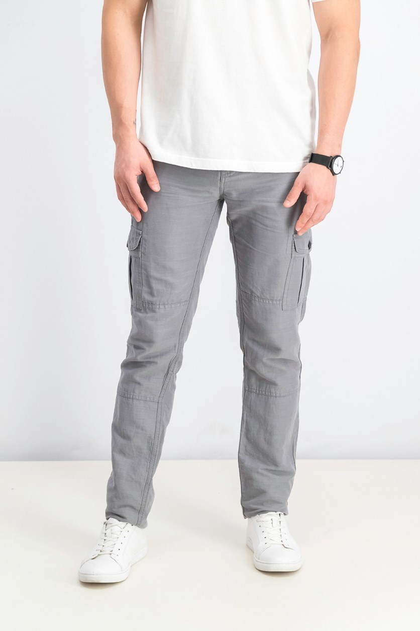 Cavalry Twill Cargo Pants, Grey