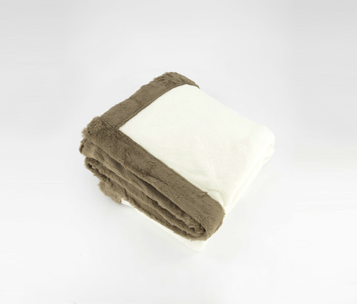 Incredibly Soft Throw, Ivory/Light Brown