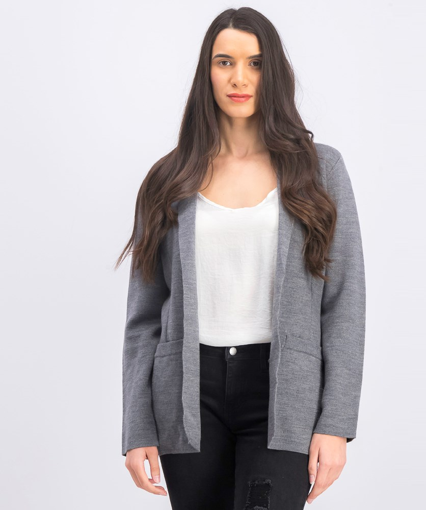 Women's Beth Sweater Cardigan, Grey Melange
