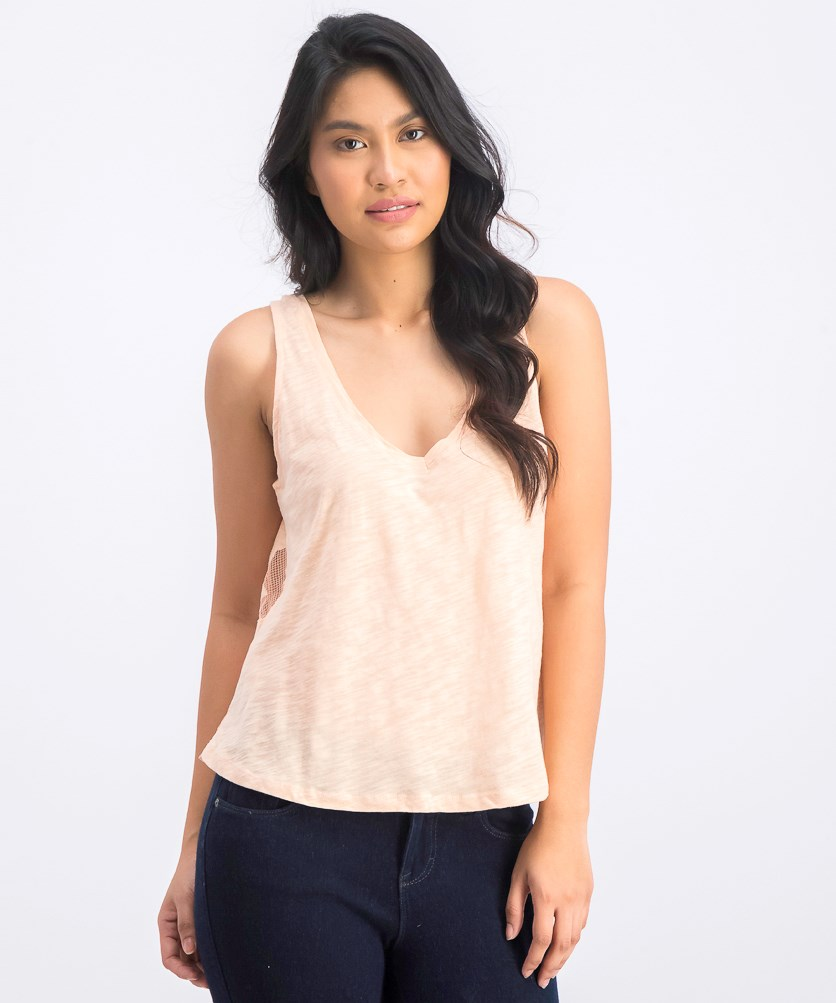 Women's Textured Top, Peach