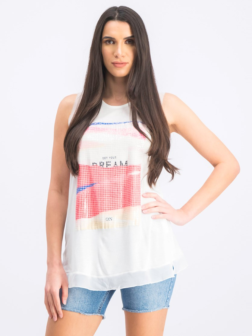 Women's Embellished Top, White