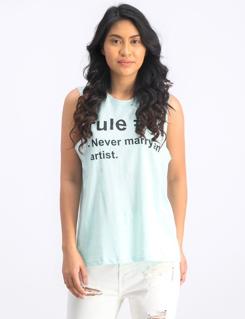 Women's Sleeveless Tank Tops, Mint