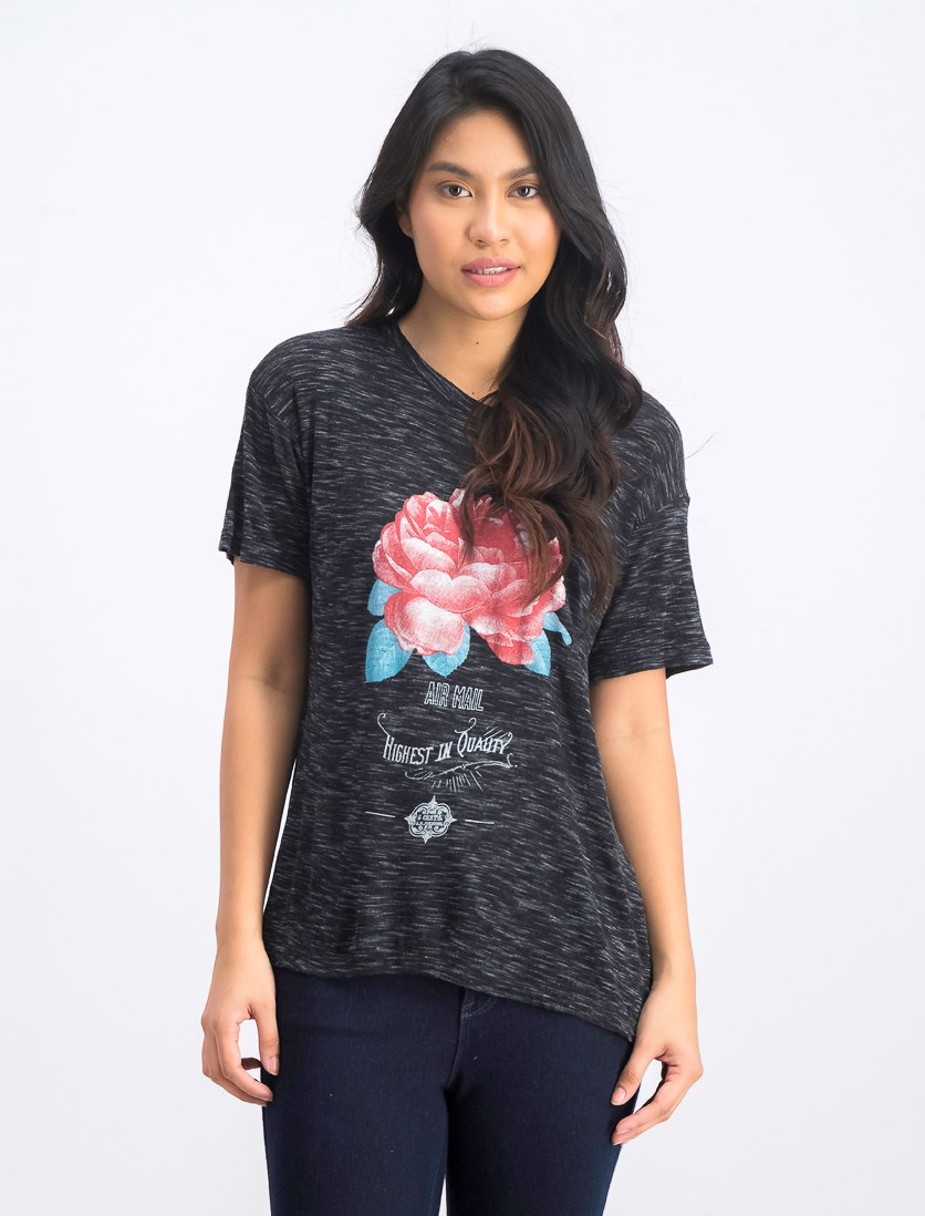 Women's Graphic T-shirt, Black