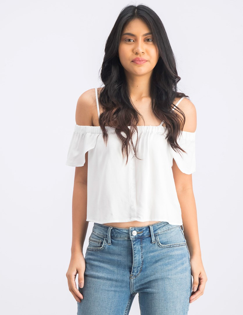 Women's Off Shoulder Tops, White