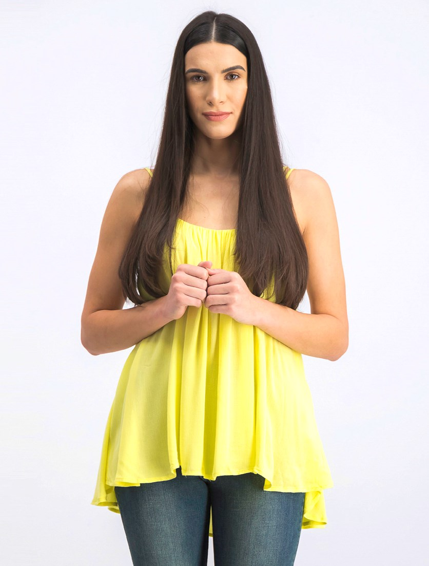 Women's Sleeveless Tops, Neon Yellow