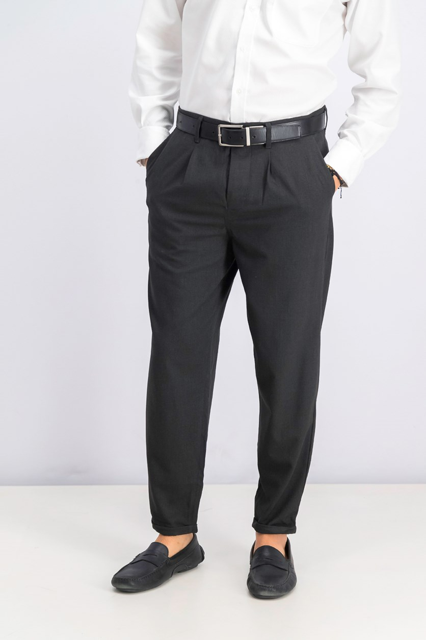 Men's Loose Tapered Pants, Charcoal