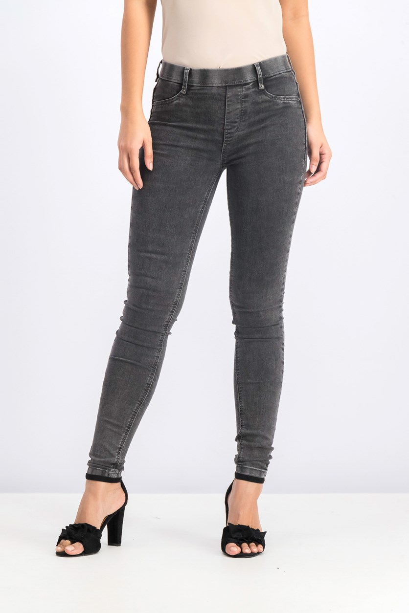 Women's High Waist Jeans, Black