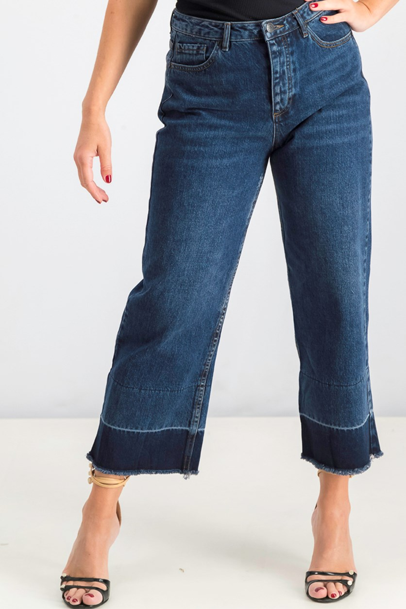 Women's Plaid Jean's, Blue