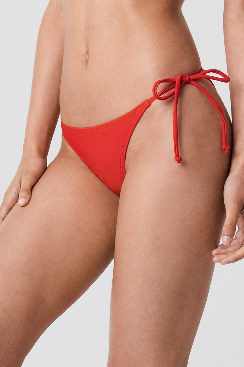 Ruched Back Triangle Panty, Red