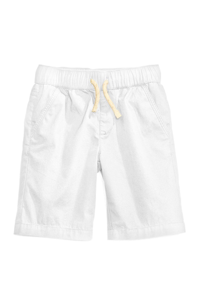 Boy's With Functional Drawstring Pull-on Shorts, Bright White