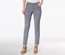 Charter Club Bristol Printed Skinny Ankle Jeans, Intrepid Blue Combo