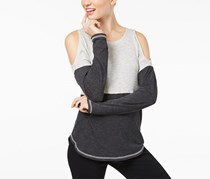 INC Women's Knit Jersey Casual Top, Grey