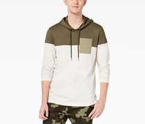 American Rag Cie Men's Colorblocked Hooded Pocket T-Shirt, Simple Sage