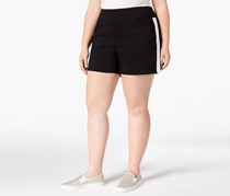INC Women's  Racing-Stripe Shorts, Deep Black