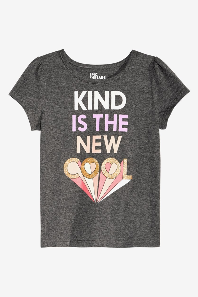 Toddler Girls T-Shirt, Charcoal Heather