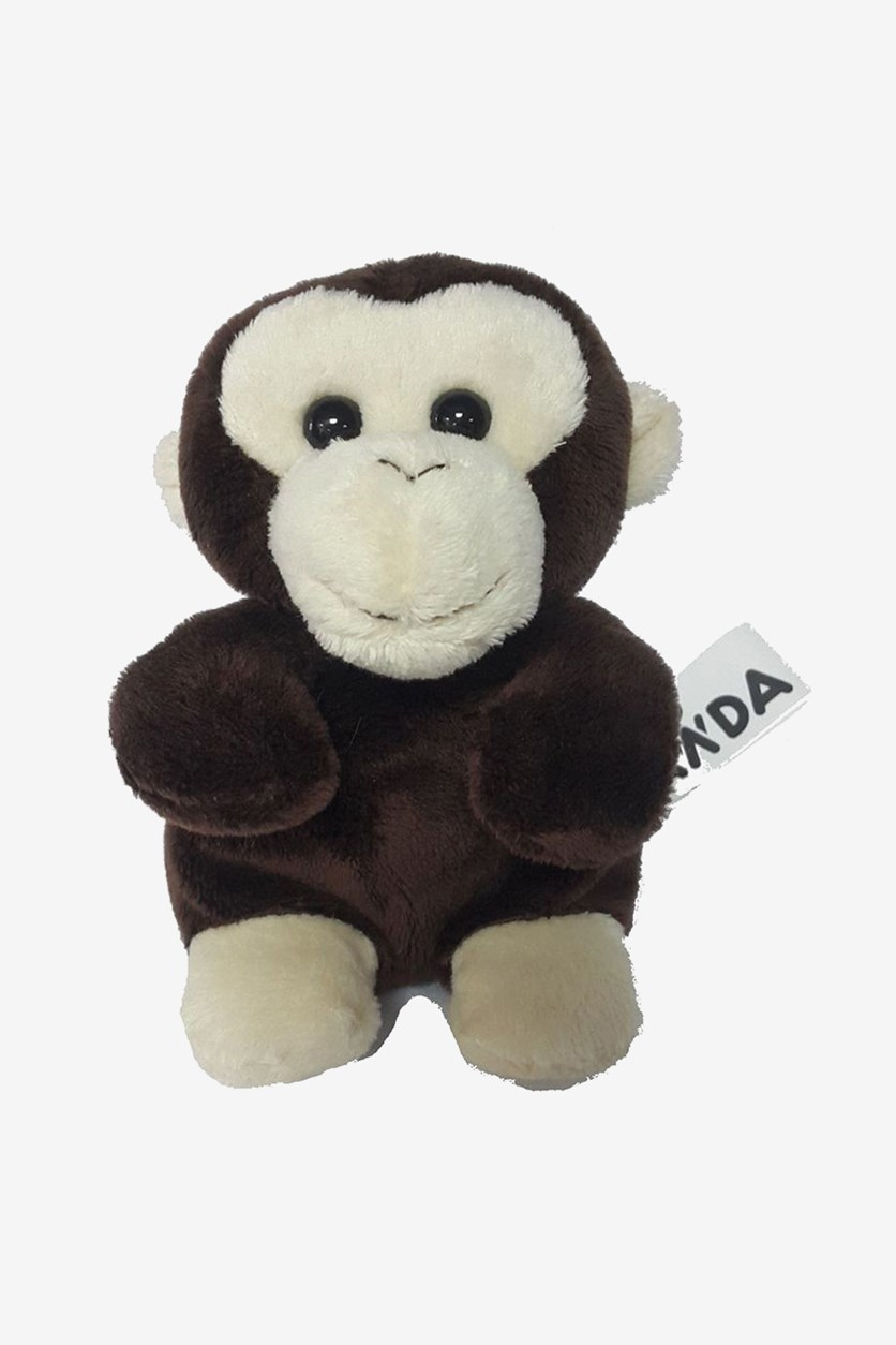 Monkey Sitting Plush Toy, Brown