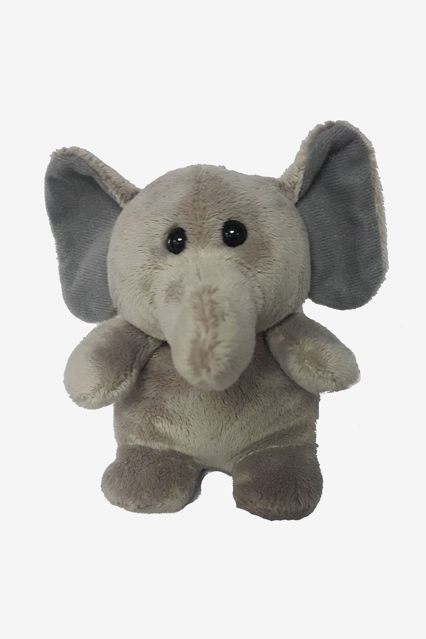 Elephant Sitting Plush Toy, Taupe