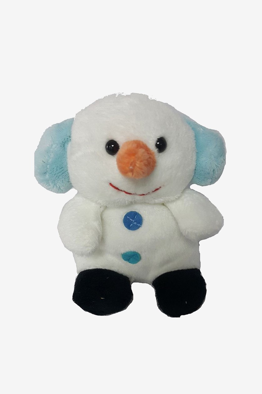 Snowman Sitting Plush Toy, White
