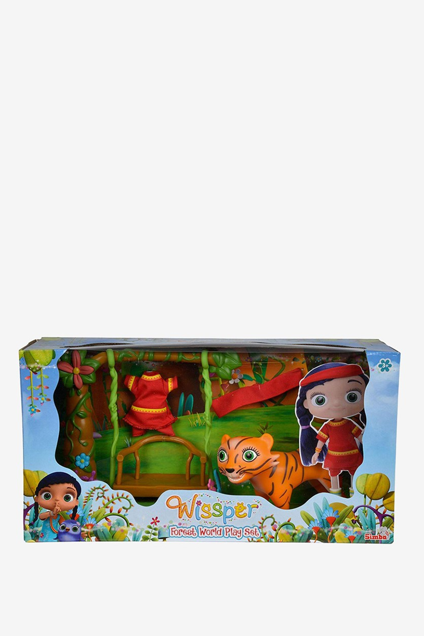 Wissper Forrest World Playset Toys, Blue/Orange/Brown