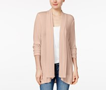 Style & Co Women's Petite Open-Front Cardigan, Pink
