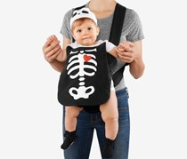 Toddler's Unisex Skeleton Carrier Costume, Black/White