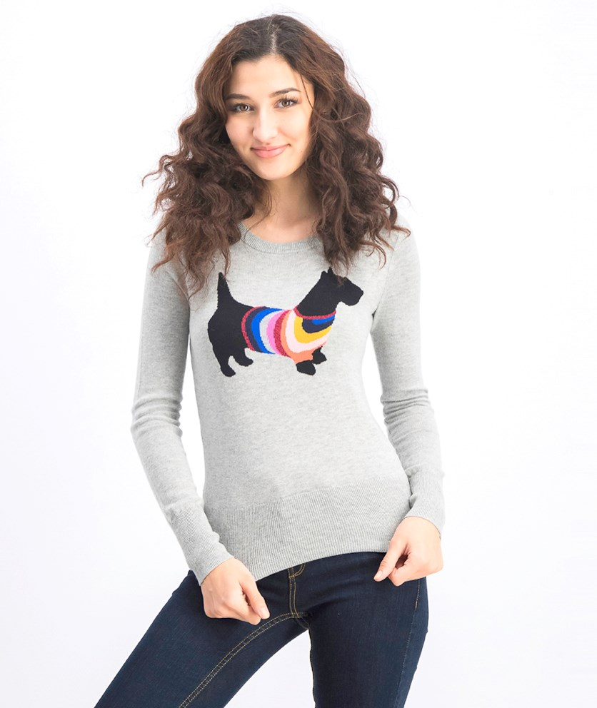Women's Long Sleeve Pullover Sweaters, Gray
