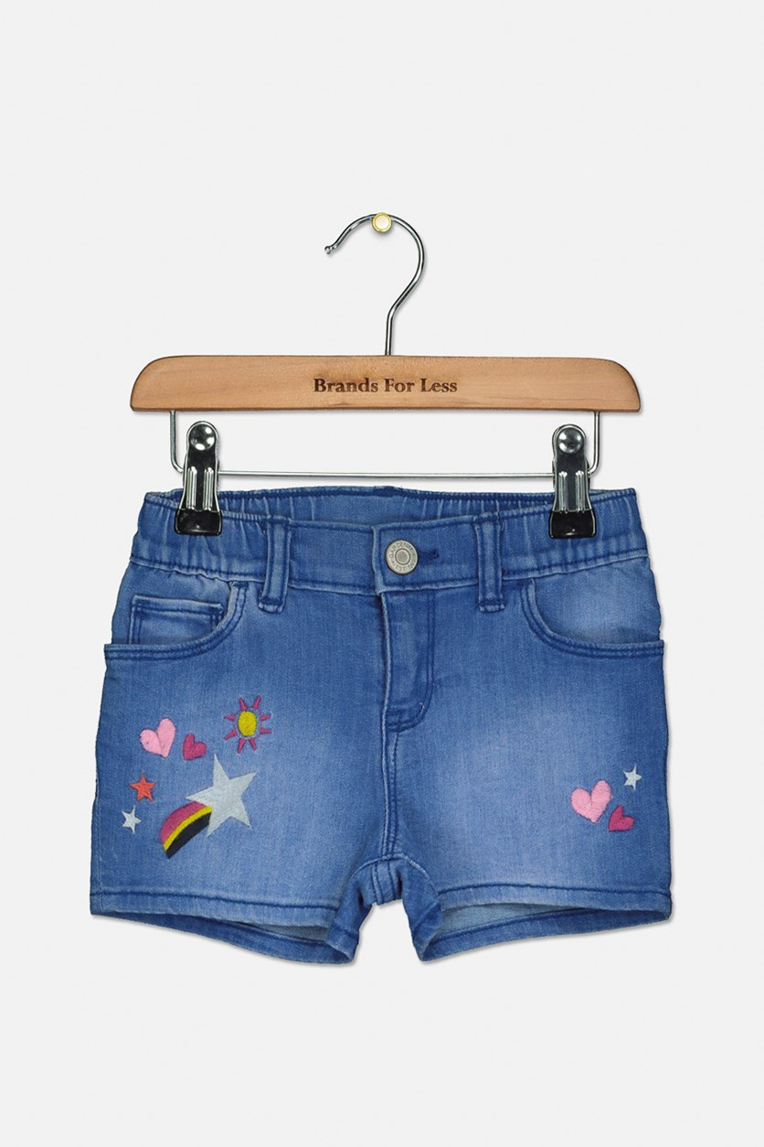 Toddler Girl's Denim Short, Blue