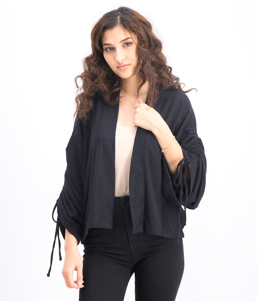 Women's Open Front Cardigan, Black