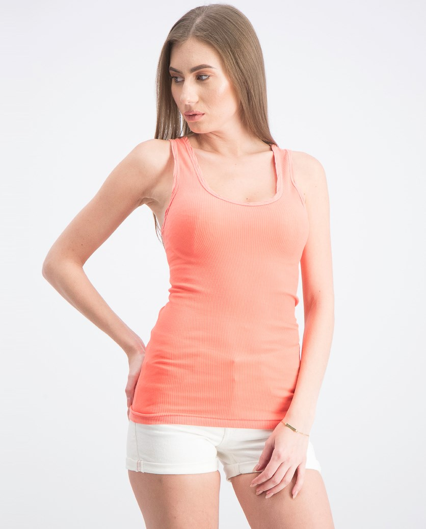 Women's Tank Top, Coral Orange