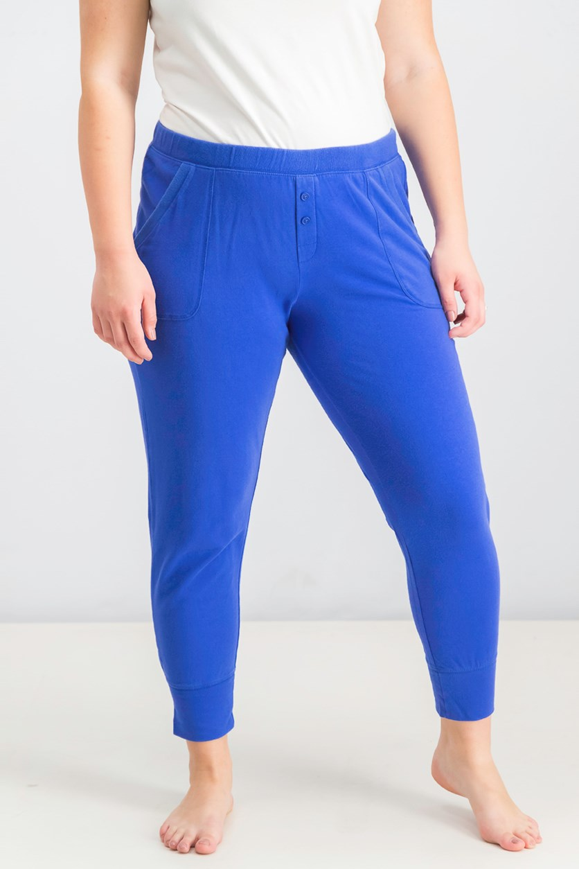 Women's Plain Pants, Blue