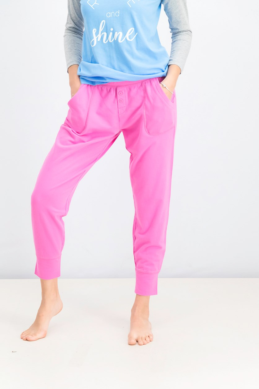 Women's Plain Jogger Pants, Pink