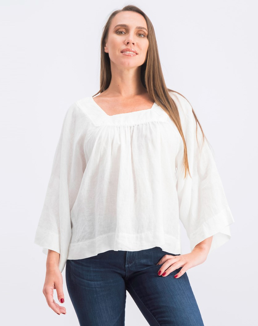 Women's 3/4 Sleeves Blouse, White