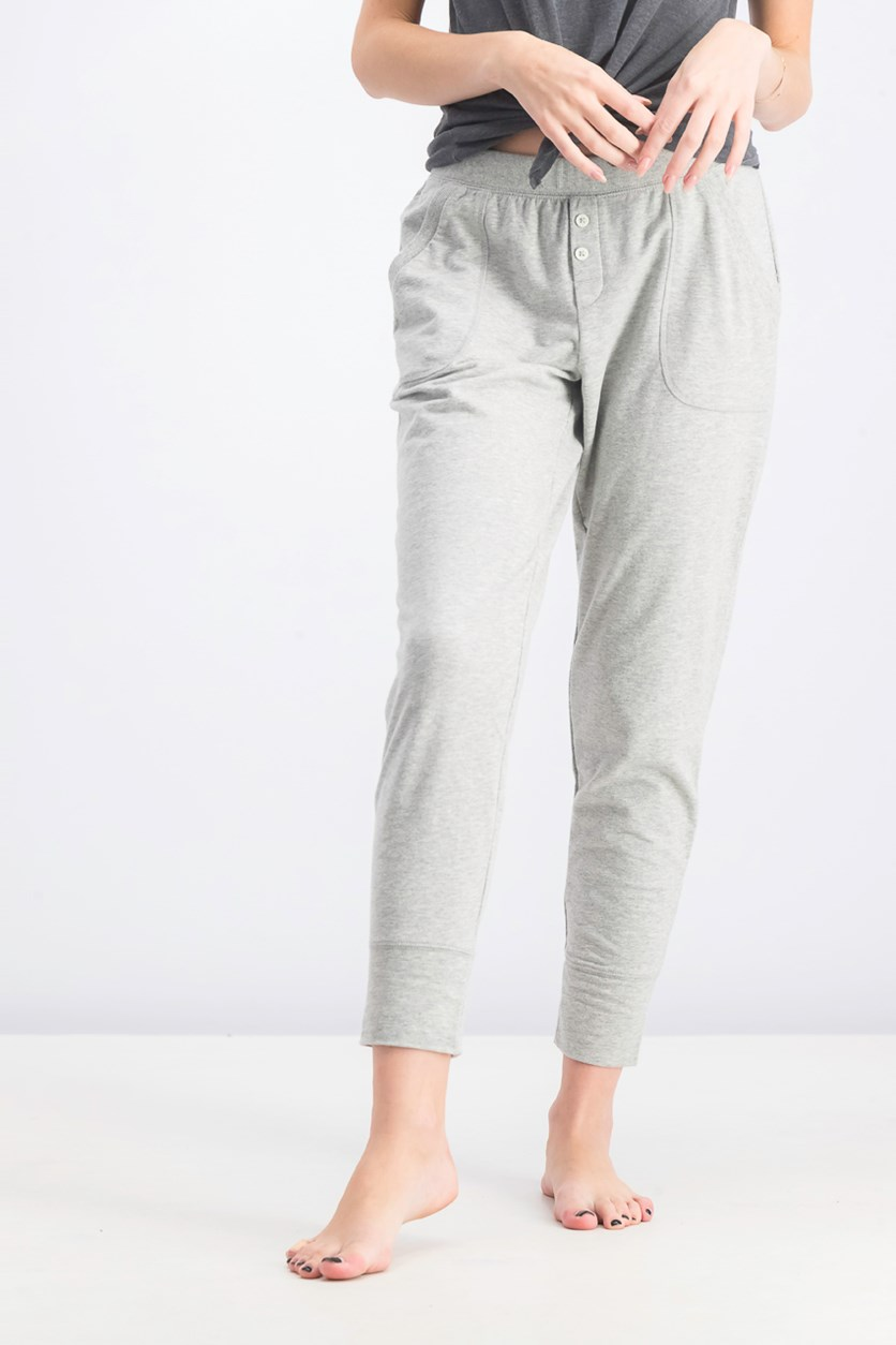 Women's Plain Pants, Grey