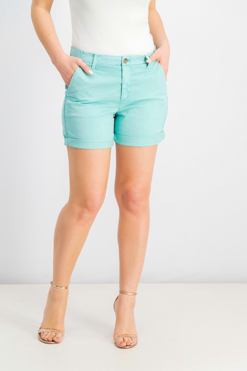 Women's Cuffed Hem Chino Short, Mint