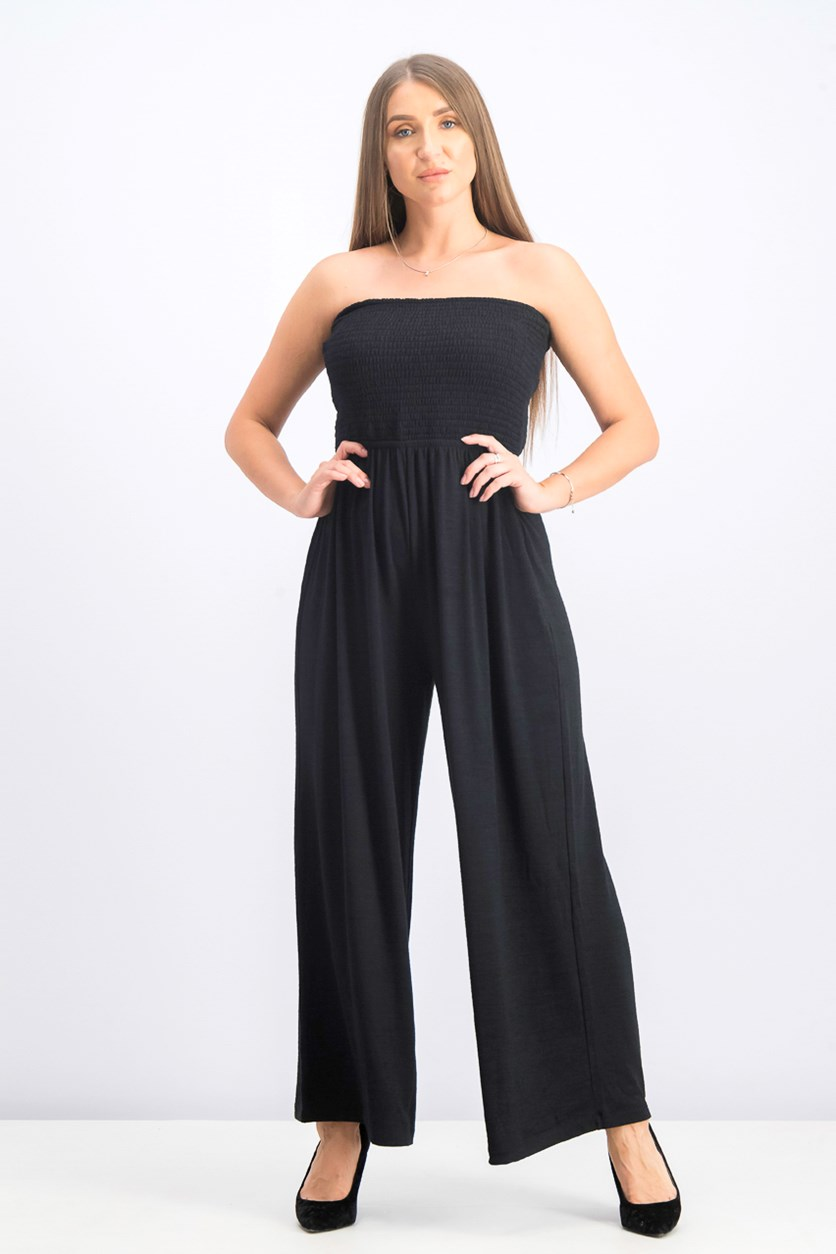 Women's Strapless Jumpsuit, Black