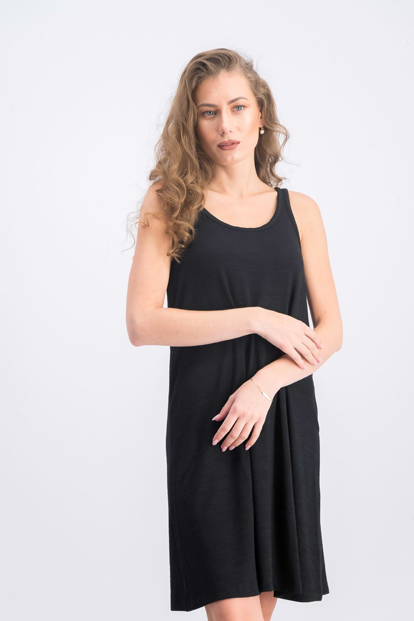 Women's Sleeveless Dress, Black