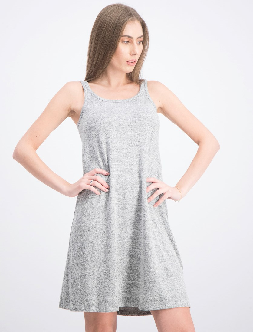 Women's Sleeveless Dress, Heather Grey
